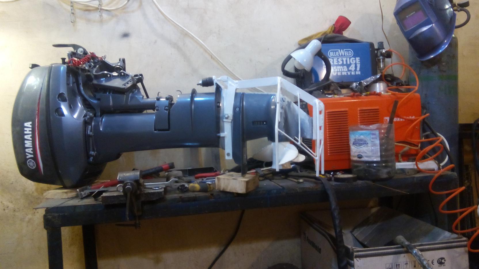 установка редуктора на лодочный мотор